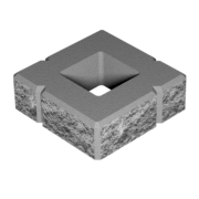 Блок малий декоративний для стовпа М-200 (чотиристоронній скол) 300х300х100